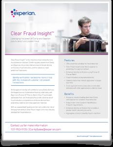 Clear Fraud Insight - Brochure Icon